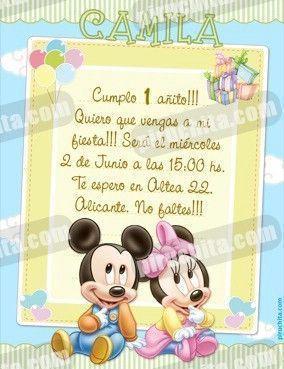 Invitación cumpleaños Mickey Baby y sus amigos #02 | Digital Imprimible