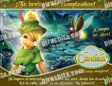 Invitación cumpleaños Campanilla #03-0