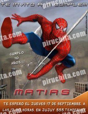 Invitación cumpleaños Spiderman #05-0