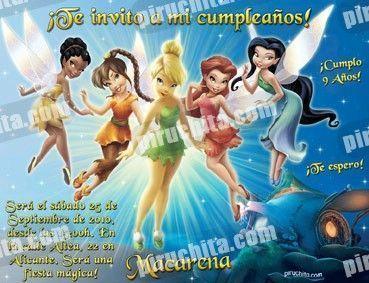 Invitación cumpleaños Campanilla #07-0