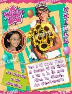 Invitación cumpleaños Patito Feo #07-0