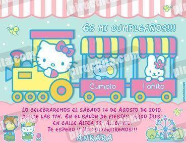Invitación cumpleaños Hello Kitty #08-0