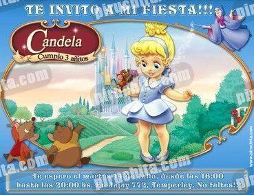 Invitación cumpleaños Cenicienta Baby-0