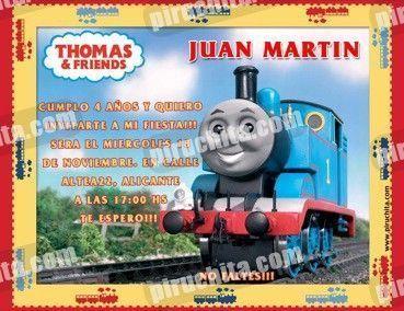 Invitación cumpleaños Thomas y sus amigos #08-0