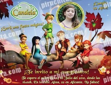 Invitación cumpleaños Campanilla #09-0