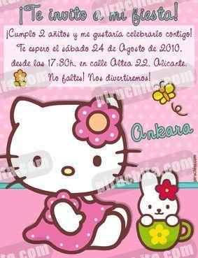 Invitación cumpleaños Hello Kitty #10-0