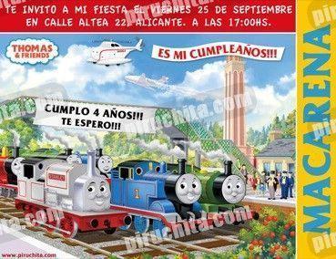 Invitación cumpleaños Thomas y sus amigos #10-0