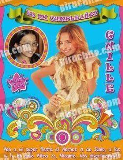 Invitación cumpleaños Patito Feo #11-0