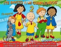 Invitación cumpleaños Caillou #01-0