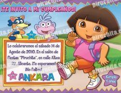 Invitación cumpleaños Dora la Exploradora #02-0