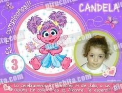 Invitación cumpleaños Barrio Sesamo #3-0