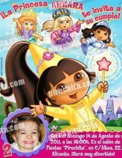 Invitación cumpleaños Dora la Exploradora #04-0