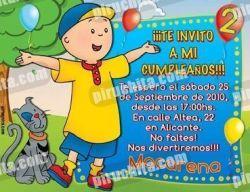 Invitación cumpleaños Caillou #09-0