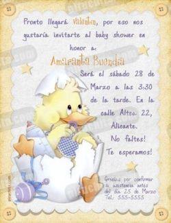 Invitación Baby Shower #02-0
