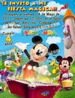 Invitación cumpleaños La Casa de Mickey #12-0