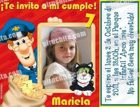 Invitación cumpleaños Pat el Cartero #03-0