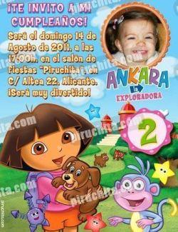 Invitación cumpleaños Dora la Exploradora #11-0