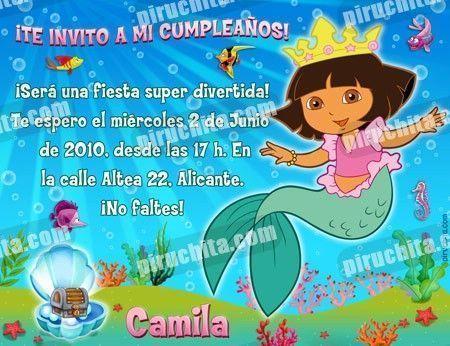 Invitación cumpleaños Dora la Exploradora #15-0