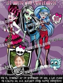 Invitación cumpleaños Monsters High #03-0