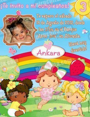 Invitación cumpleaños Tarta de fresa Baby #01-0