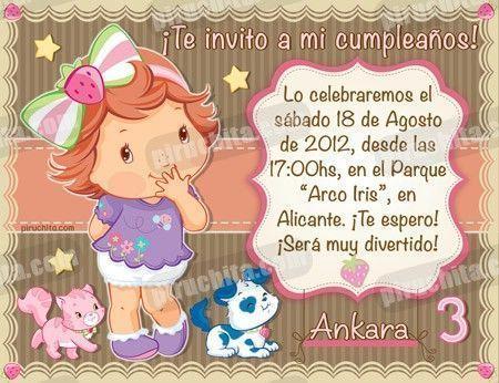 Invitación cumpleaños Tarta de fresa Baby #06-0