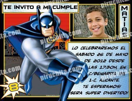 Invitación cumpleaños Batman #01-0