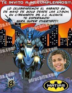 Invitación cumpleaños Batman #02-0