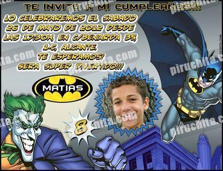 Invitación cumpleaños Batman #05-0