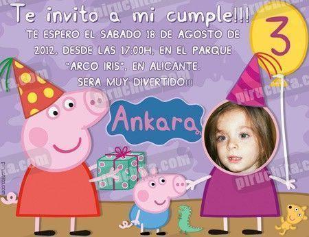 Invitación cumpleaños Peppa Pig #01-0