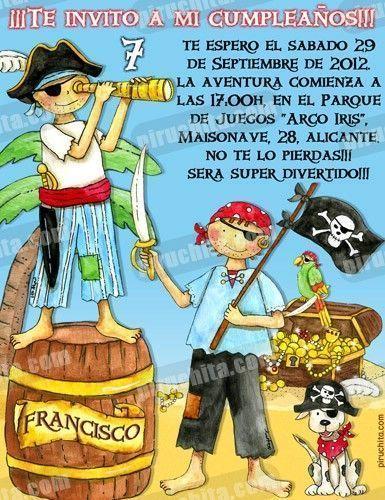Invitación cumpleaños Piratas #03-0