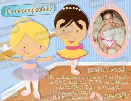Invitación cumpleaños Ballet #01-0