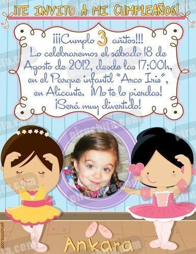 Invitación cumpleaños Ballet #05-0