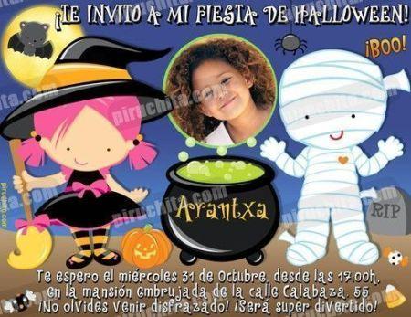 Invitación fiesta de Halloween #01-0