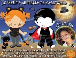 Invitación fiesta de Halloween #02-0