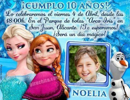 Invitación cumpleaños Frozen #01-0