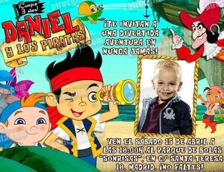 Invitación cumpleaños Jake y los piratas #03-0