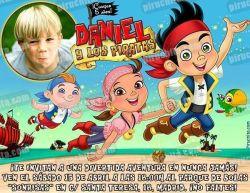 Invitación cumpleaños Jake y los piratas #04-0
