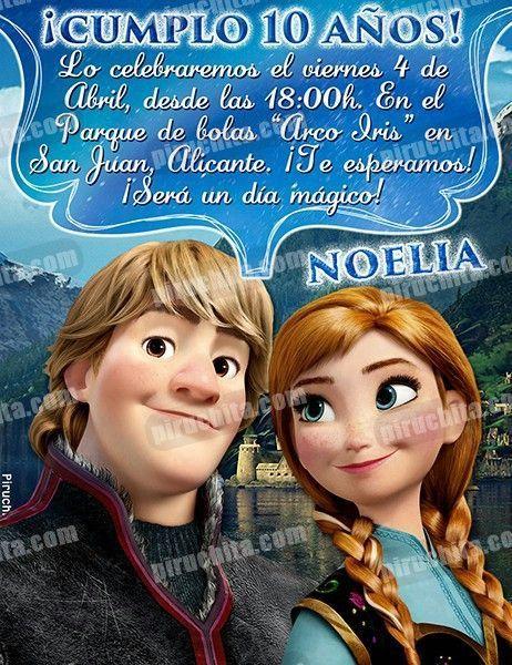 Invitación cumpleaños Frozen #13-0