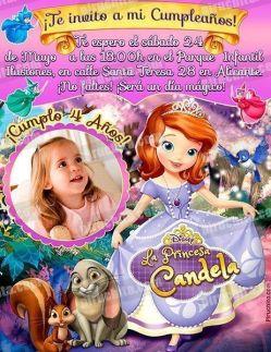 Invitación cumpleaños La Princesa Sofía #03-0