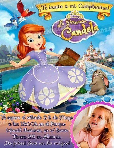 Invitación cumpleaños La Princesa Sofía #06-0