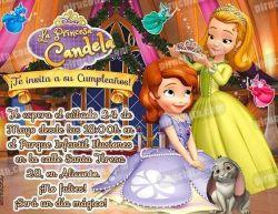 Invitación cumpleaños La Princesa Sofía #10-0