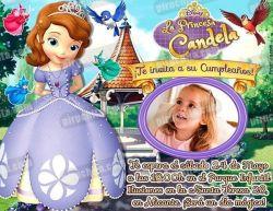 Invitación cumpleaños La Princesa Sofía #12-0