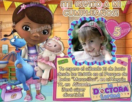Invitación cumpleaños La Doctora Juguetes #06-0