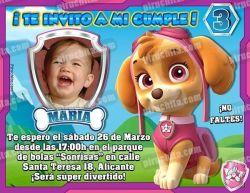 Invitación cumpleaños La Patrulla Canina #08-0