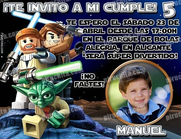 Invitación cumpleaños Lego Star Wars #02-0