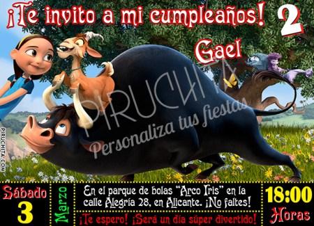 Invitación cumpleaños Ferdinand #03 | Digital Imprimible