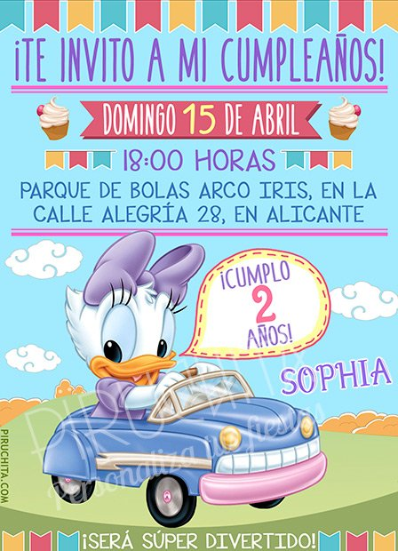 Invitación cumpleaños Mickey Baby y sus amigos #03 | Digital Imprimible