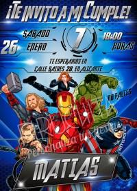 Invitación cumpleaños Avengers #01 | Digital Imprimible