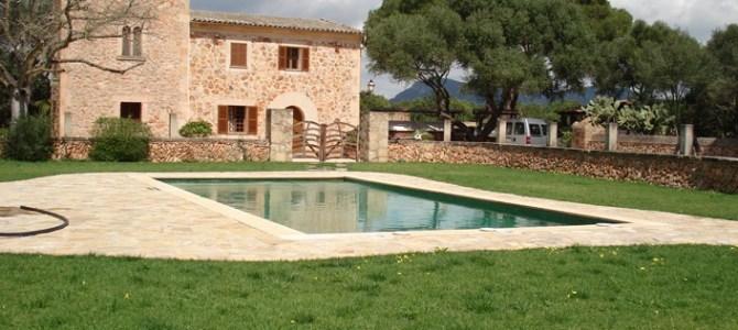 Construcción de una piscina rectangular en Llucmajor
