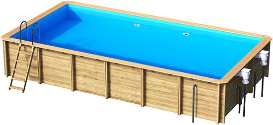 piscine hors sol bois rectangulaire odyssea